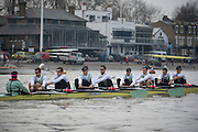 Mens Trials VIIIs for 162nd University Boat Race, sponsored by BNY MELLON,held on the Championship Course from Putney to Mortlake,  Sunday 13 December 2015.<br /> <br /> CUBC Trial VIII's between FUERTE on Surrey and LISTO on Middlesex<br /> <br /> FUERTE, Bow, Peter Carey, 2, Patrick Elwood, 3, Alister Taylor, 4, Peter Rees, 5, Charlie Fisher, 6, Ali Abbasi, 7, Luke Juckett, Stroke, Lance Tredell, Cox, Ian Middleton<br /> <br /> LISTO, Bow, Piers Kasas, Felix Newman, 3, Sam Ringer, 4, Joe Carroll, 5, Clemens Auersperg, 6, Vincent Bertram, 7, Henry Hoffstot, Stroke, Ben Ruble, Cox, Hugo Ramambason