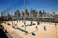 Volleyball tournaments at Brooklyn Bridge Park
