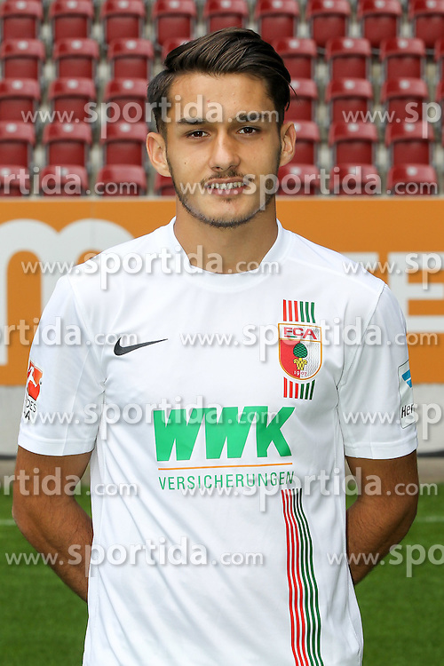 08.07.2015, WWK Arena, Augsburg, GER, 1. FBL, FC Augsburg, Fototermin, im Bild Arif Ekin #31 (FC Augsburg) // during the official Team and Portrait Photoshoot of German Bundesliga Club FC Augsburg at the WWK Arena in Augsburg, Germany on 2015/07/08. EXPA Pictures &copy; 2015, PhotoCredit: EXPA/ Eibner-Pressefoto/ Kolbert<br /> <br /> *****ATTENTION - OUT of GER*****