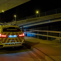 Kristiansand  20170104.<br /> En kvinne er knivstukket under en bru i Kristiansand onsdag kveld.<br /> Foto: Tor Erik Schr&oslash;der / NTB scanpix