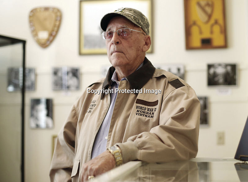 LAUREN WOOD/DAILY JOURNAL FILE<br /> Command Sgt. Major Lawrence E. &quot;Rabbit&quot; Kennedy poses at the Amory Regional Museum during a 2013 photoshoot for the Daily Journal. The widely known veteran of three wars passed away Sunday at age 93.