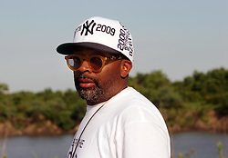 01 June 2010. Breton Sound Marina, Hopedale, Louisiana, USA.  <br /> Spike Lee on set in Chalmette for his latest movie,  'If God is Willing and da Creek Don't Rise.'<br /> Photo; Charlie Varley.