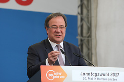 May 10, 2017 - Haltern, Germany - Armin Laschet, Chairman of the CDU North-Rhine Westphalia speaks during the CDU campaign rally for state elections in NRW on May 10, 2017 in Haltern, Germany. (Credit Image: © Maik Boenisch/Pacific Press via ZUMA Wire)