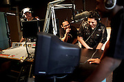 Local rappers participate in Mic Check Monday at 105.5 The Beat in Fort Myers. Mic Check Mondays was born after the station's program director, Scrap Jackson, left, put out an offer over the radio for local rappers to come spit a verse on air. He was shocked at the turnout. Almost 200 local artists came for the hopes of an opportunity.  ?There?s so much to being successful in hip hop and it?s not just having talent,? said Scrap ?Scrappy? Jackson, a D.J. and program director at 105.5 The Beat. ?It?s having swagger, having a certain person carry that talent, team of people around you, create your own movement if you will, a street team and viral media to quantify to a record label.?