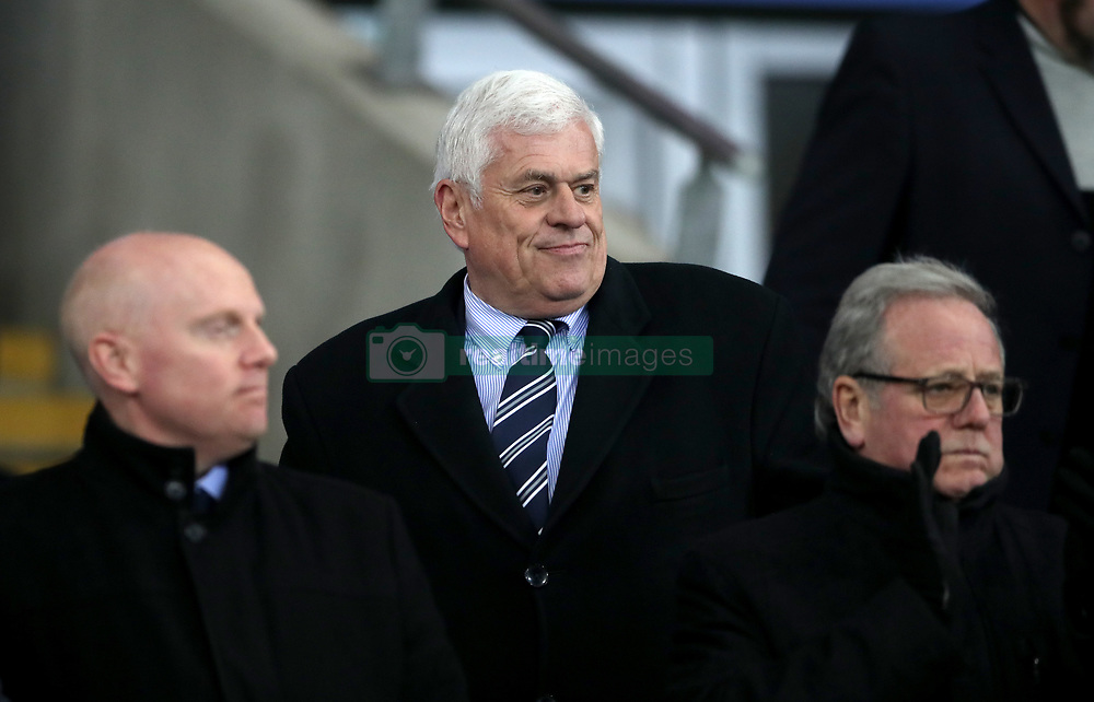 Former Cardiff City chairman Peter Ridsdale (centre) during the Sky Bet Championship match at The Den, London.