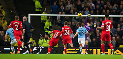 MANCHESTER, ENGLAND - Boxing Day Thursday, December 26, 2013: Manchester City's Alvaro Negredo scores the second goal against Liverpool during the Premiership match at the City of Manchester Stadium. (Pic by David Rawcliffe/Propaganda)