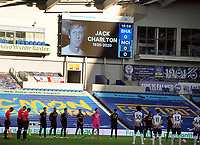 Football - 2019 / 2020 Premier League - Brighton & Hove Albion vs Manchester City<br /> <br /> <br />  A minutes silence for Jackie Charlton of Leeds and England who died today  , at the Amex Stadium<br /> <br /> COLORSPORT/ANDREW COWIE