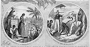 Detail: October 29, 1864 Harper's Weekly Presidential politics attacking the Chicago Democratic Platform emphasising the evils of slavery and the sacrifices so far in the war.