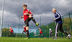 NEWPORT, WALES - Wednesday, September 24, 2014: Wales' Matty Smith training at Dragon Park ahead of the Under-16's International Friendly match against France. (Pic by David Rawcliffe/Propaganda)