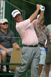 28 June 2005<br /> <br /> Brian Bateman tees off on number 1.<br /> <br /> Tuesday practice session at the 2005 Cialis Western Open. Dubsdread, Cog Hill Golf Course, Lemont, IL