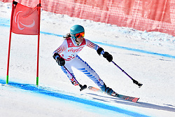 SCHWARTZ Melanie LW2 USA competing in ParaSkiAlpin, Para Alpine Skiing, Super G at PyeongChang2018 Winter Paralympic Games, South Korea.