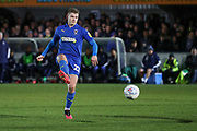 AFC Wimbledon midfielder Max Sanders (23) passing the ball during the EFL Sky Bet League 1 match between AFC Wimbledon and Ipswich Town at the Cherry Red Records Stadium, Kingston, England on 11 February 2020.