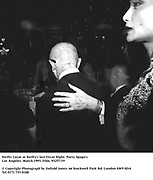 Swifty Lazar at Swifty's last Oscar Night  Party. Spago's. Los Angeles. March 1993. Film. 93257/19<br />© Copyright Photograph by Dafydd Jones<br />66 Stockwell Park Rd. London SW9 0DA<br />Tel 0171 733 0108