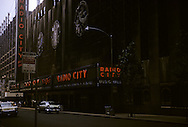 Radio City Music Hall in New York, NY during August 1958.