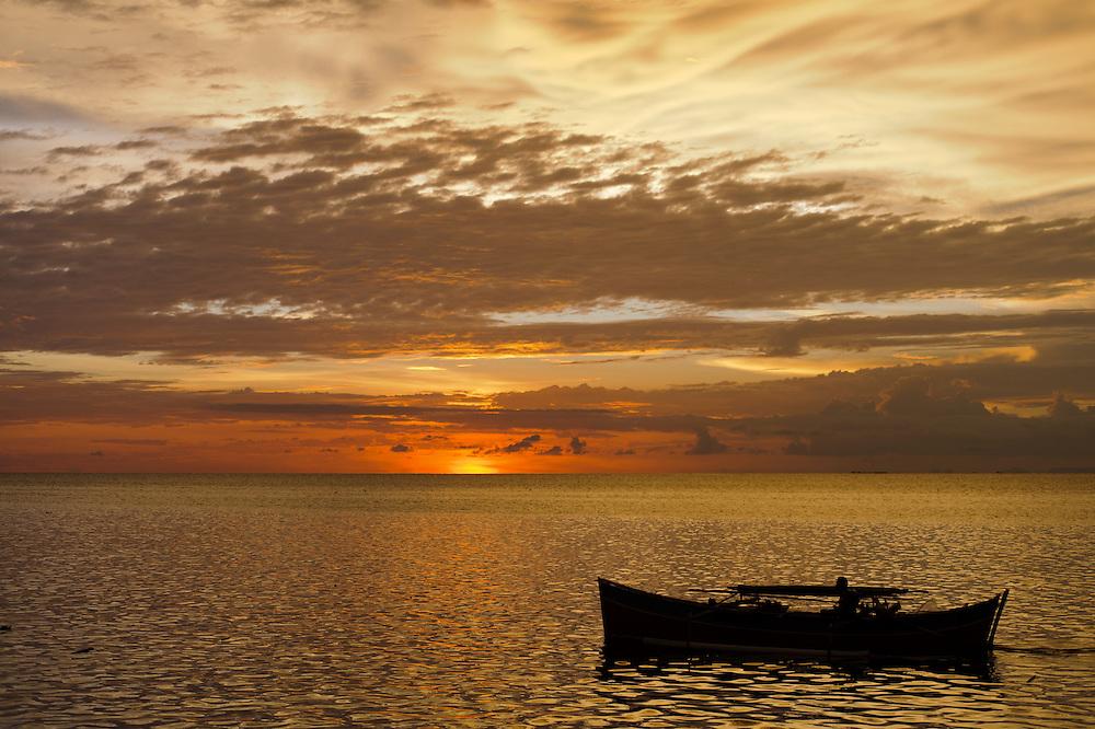 Sunset at Torosiaje, Sulawesi, Indonesia.