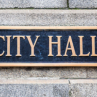 Chicago City Hall municipal sign high resolution photo