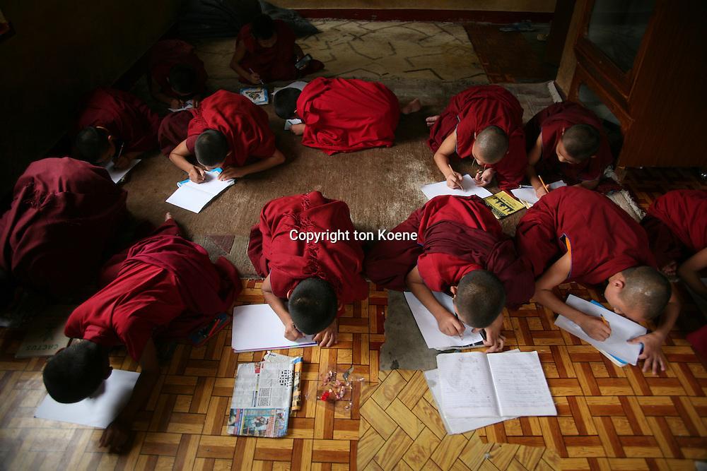 Tibetan Monks in Nepal