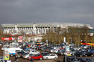 General view of Twickenham Stadium from Twickenham Stoop Stadium before the Women's RBS 6 Nations match at Twickenham Stoop , London<br /> Picture by David Horn/Focus Images Ltd +44 7545 970036<br /> 15/02/2015