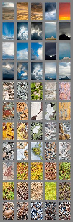 Deconstructed landscape panel Assynt