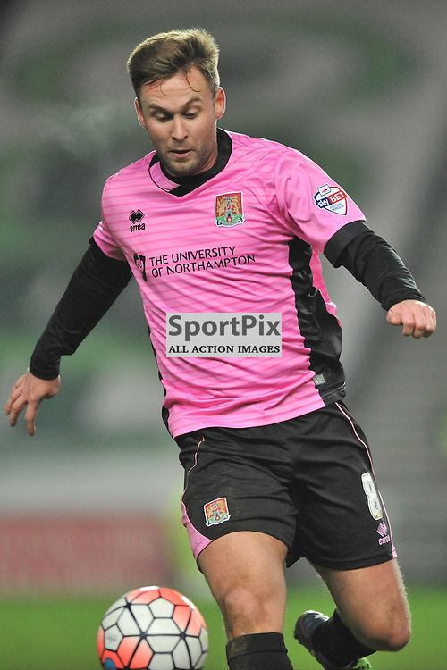 JOEL BYROM NORTHAMPTON TOWN, MK Dons v Northampton Town, FA Cup Emirates FA Cup Third round Repay, Stadium MK, Tuesday 19th January 2016