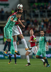 September 3, 2017 - Budapest, Hungary - Pepe (L) of Portugal in action with Daniel Böde (R) of Hungary during the World Cup qualification match between Hungary and Portugal at Groupama Arena on Nov 03, 2017 in Budapest, Hungary. (Credit Image: © Robert Szaniszlo/NurPhoto via ZUMA Press)