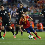 David Villa, Spain, in action during the Spain V Ireland International Friendly football match at Yankee Stadium, The Bronx, New York. USA. 11th June 2013. Photo Tim Clayton