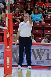 28 September 2014:  Karl Koopman during an NCAA womens volleyball match between the Evansville Purple Aces and the Illinois State Redbirds at Redbird Arena in Normal IL