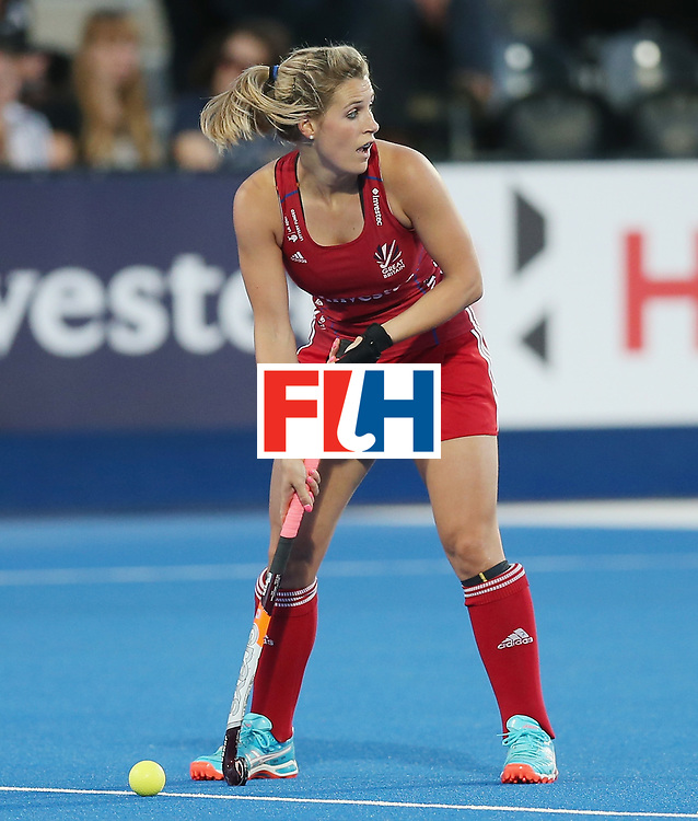 LONDON, ENGLAND - JUNE 21:  Georgie Twigg of Great Britain during the FIH Women's Hockey Champions Trophy match between New Zealand and Great Britain at Queen Elizabeth Olympic Park on June 21, 2016 in London, England.  (Photo by Alex Morton/Getty Images)