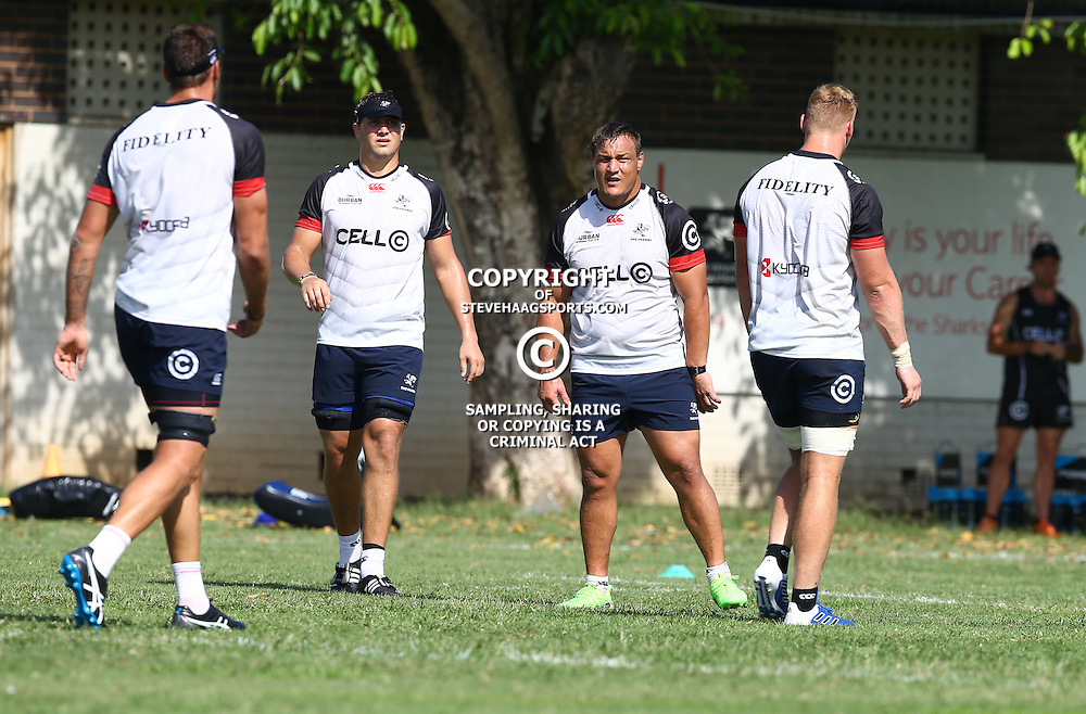 Coenie Oosthuizen during The Cell C Sharks Pre Season training, session at Growthpoint Kings Park in Durban, South Africa. 16 February 2017(Photo by Steve Haag)<br /> <br /> images for social media must have consent from Steve Haag