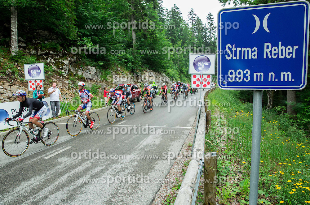 Peloton in Strma reber hill during Stage 2 of 22nd Tour of Slovenia 2015 from Skofja Loka to Kocevje (183 km) cycling race  on June 19, 2015 in Slovenia. Photo by Vid Ponikvar / Sportida