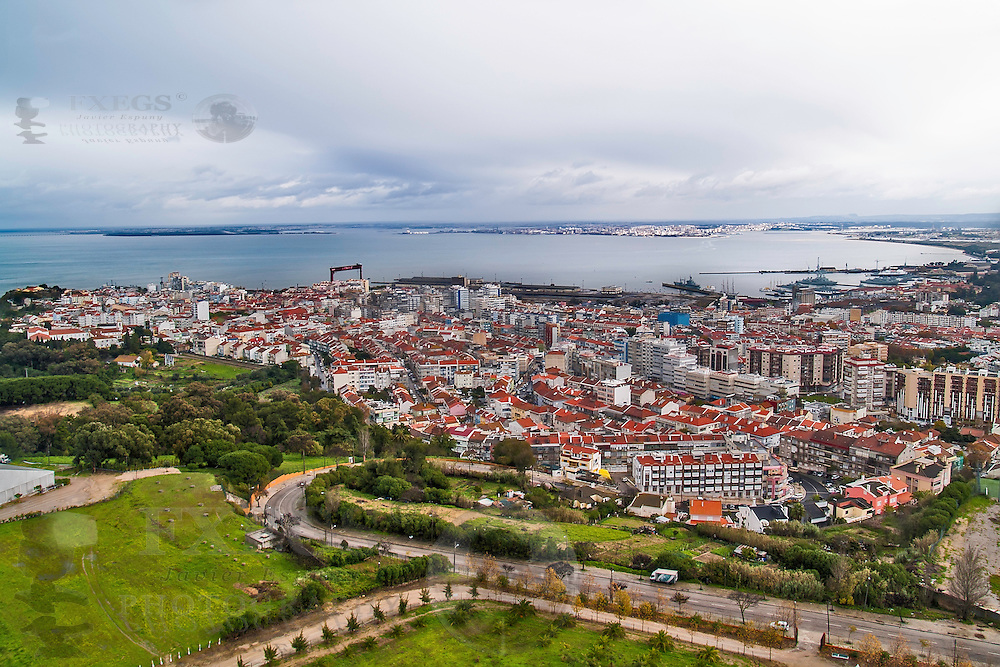 Almada, November 2012. General view. Neighbour town of Lisbon, at the opposite side of Tagus Estuary. Founded in 1190, has a population of 175,000.