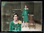 Vintage Mugshots in colour<br /> <br /> Mug shot of Fay Watson, 24 March 1928, Central Police Station, Sydney.<br /> <br /> Special Photograph no. D6, (Drug Bureau Photograph). Although no record for Fay Watson is found in the NSW Police Gazette for 1928, the Sydney Morning Herald (26 March 1928, p. 12) reports her arrest in a house in Crown Street, Darlinghurst, and subsequent conviction for having cocaine in her possession, for which she was fined ten pounds.<br /> &copy;Fr&eacute;d&eacute;ric DurIiez/Exclusivepix Media
