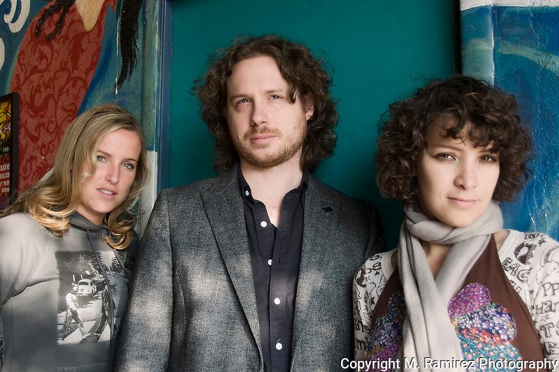 Leslie Lowe, Sebastian Aymanns, Gaby Moreno at Tsunami Coffeshop in Los Angeles, CA.