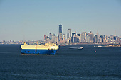 Car Carrier Ship 'Grand Pioneer' in New York Harbor