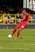 Ben Godfrey during the Friendly match between Harrogate Town and York City at Wetherby Road, Harrogate, United Kingdom on 25 July 2015. Photo by Simon Davies.