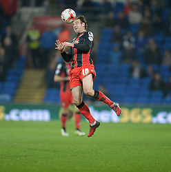 Bournemouth's Brett Pitman in action. - Photo mandatory by-line: Alex James/JMP - Mobile: 07966 386802 - 17/03/2015 - SPORT - Football - Cardiff - Cardiff City Stadium - Cardiff City v AFC Bournemouth - Sky Bet Championship