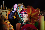 Bret Michaels rides on a float with the Krewe of Orpheus during Mardi Gras 2012 in New Orleans