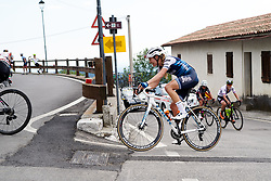 Tayler Wiles (USA) approaches the top of the final climb during Stage 8 of 2019 Giro Rosa Iccrea, a 133.3 km road race from Vittorio Veneto to Maniago, Italy on July 12, 2019. Photo by Sean Robinson/velofocus.com