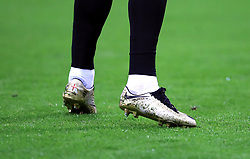 A detailed view of England's Harry Kane wearing golden boots during the UEFA Nations League, League A Group Four match at Wembley Stadium, London.