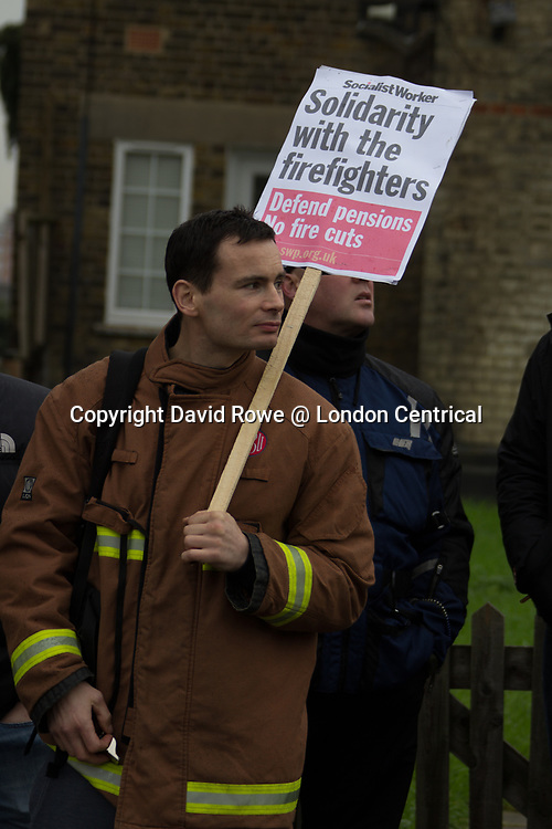 The Fire Brigade Union protest at the newly opened fire station was to protest against proposed pension changes.
