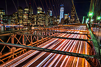 NYC - Evening Traffic, Brooklyn Bridge