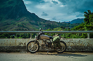 Honda Win parked along a road, Muong La District, Son La Province, Vietnam, Southeast Asia