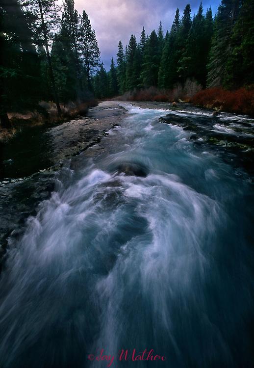 Wizard Falls along the Wild and Scenic Metolius River near Camp Sherman, Oregon.