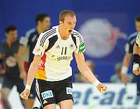 Handball EM Herren 2010 Hauptrunde Deutschland - Frankreich 24.01.2010 Holger Glandorf (GER) jubelt