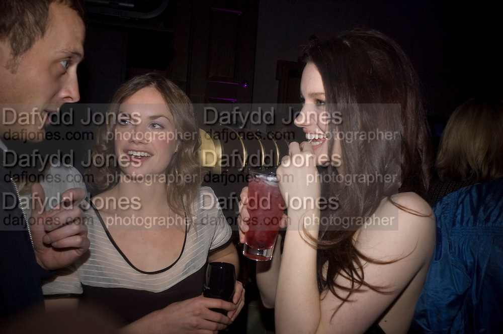 Adam Goodsell, Ruth Wilson and Tallulah Riley, Dom Perignon and Claudia Schiffer host a celebration of Dom Perignon Oenotheque 1995. The Landau, Portland Place. London W1. 26 February 2008.  *** Local Caption *** -DO NOT ARCHIVE-© Copyright Photograph by Dafydd Jones. 248 Clapham Rd. London SW9 0PZ. Tel 0207 820 0771. www.dafjones.com.