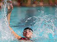 Cedar Rapids Country Club's Anna Christenson, 11, in the Girls 11-12 50 Yard Backstroke event at the All City Swim Meet at Cherry Hill Aquatic Center in Cedar Rapids on Saturday, July 20, 2013. 623 athletes from ages 4-17 participated in the meet.