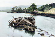 an old ship wreck in the sea