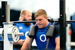 Jack Singleton trains in the gym at Clifton College - Mandatory by-line: Robbie Stephenson/JMP - 15/07/2019 - RUGBY - England - England training session ahead of Rugby World Cup