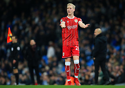 Hordur Magnusson of Bristol City gestures - Mandatory by-line: Matt McNulty/JMP - 09/01/2018 - FOOTBALL - Etihad Stadium - Manchester, England - Manchester City v Bristol City - Carabao Cup Semi-Final First Leg