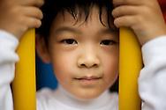 A young Taiwanese boy in Taipei, Taiwan.